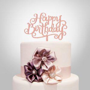 Topper decoracón pastel cumpleaños
