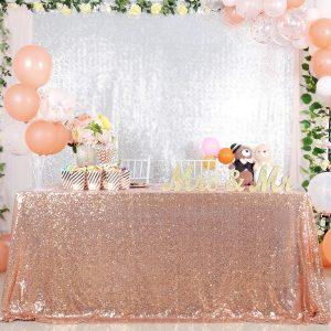 camino de mesa lentejuelas para fiestas