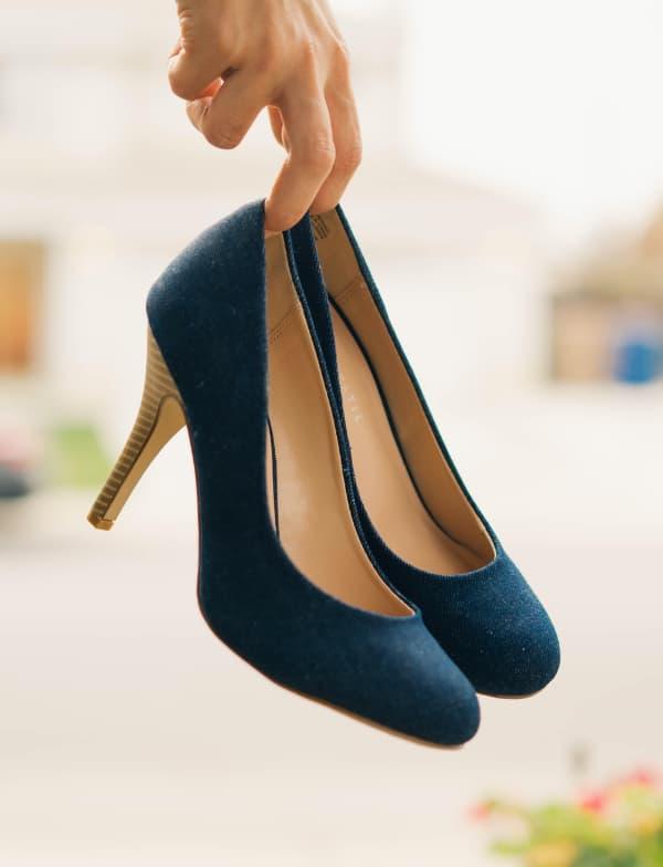 6 hermosas ideas para incluir el Azul en tu boda zapatos