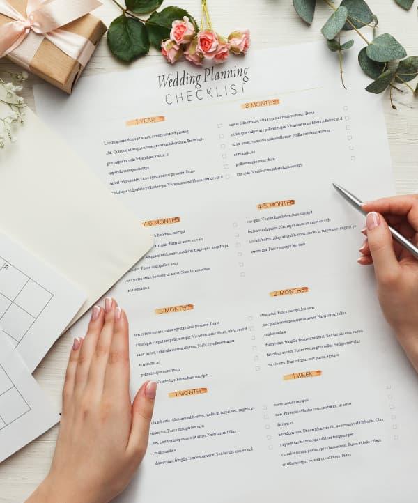 lista plan de boda